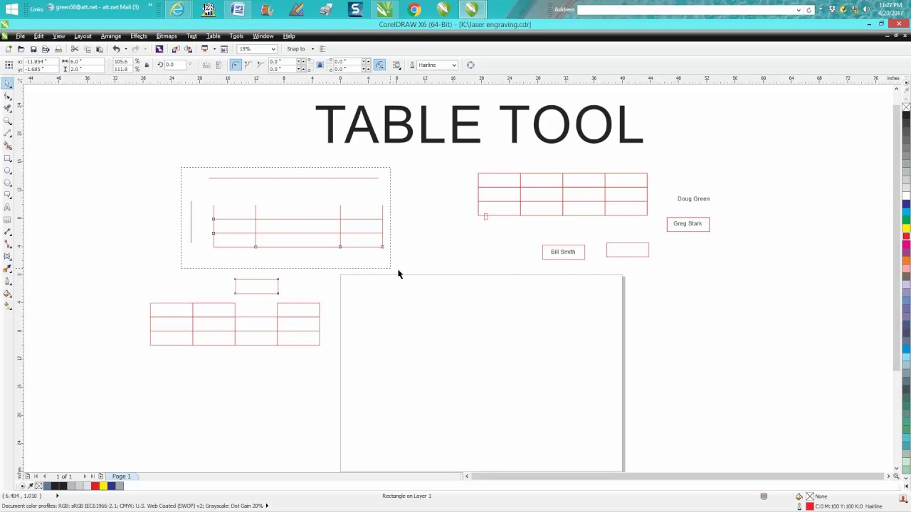 Corel Draw Tips & Tricks table Tool and how to use