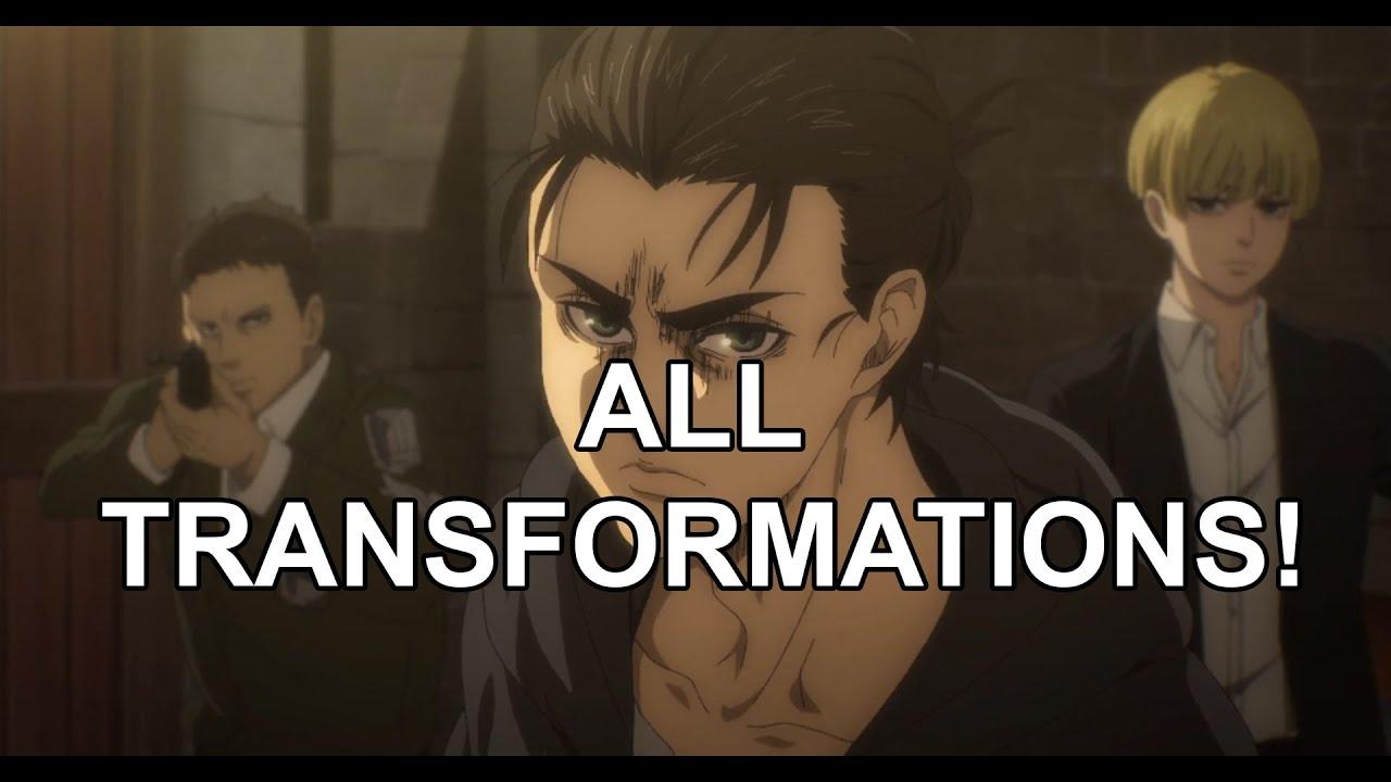 All Transformations from Eren Jaeger - Attack on Titan Season 4 Part 1