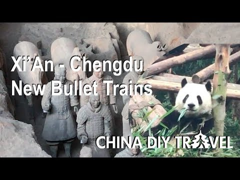 Xian - Chengdu new bullet trains