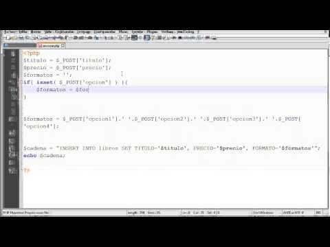 Manejo de checkbox en PHP - Video 01 de 03