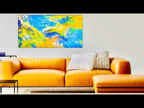 """Let it Go"" Flow Acrylic Abstract Painting 