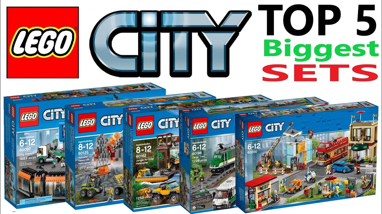 Lego City Top 5 Biggest Sets Of All Time Lego Speed