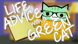 LIFE ADVICE WITH A GREEN CAT | Geometry Dash Juniper