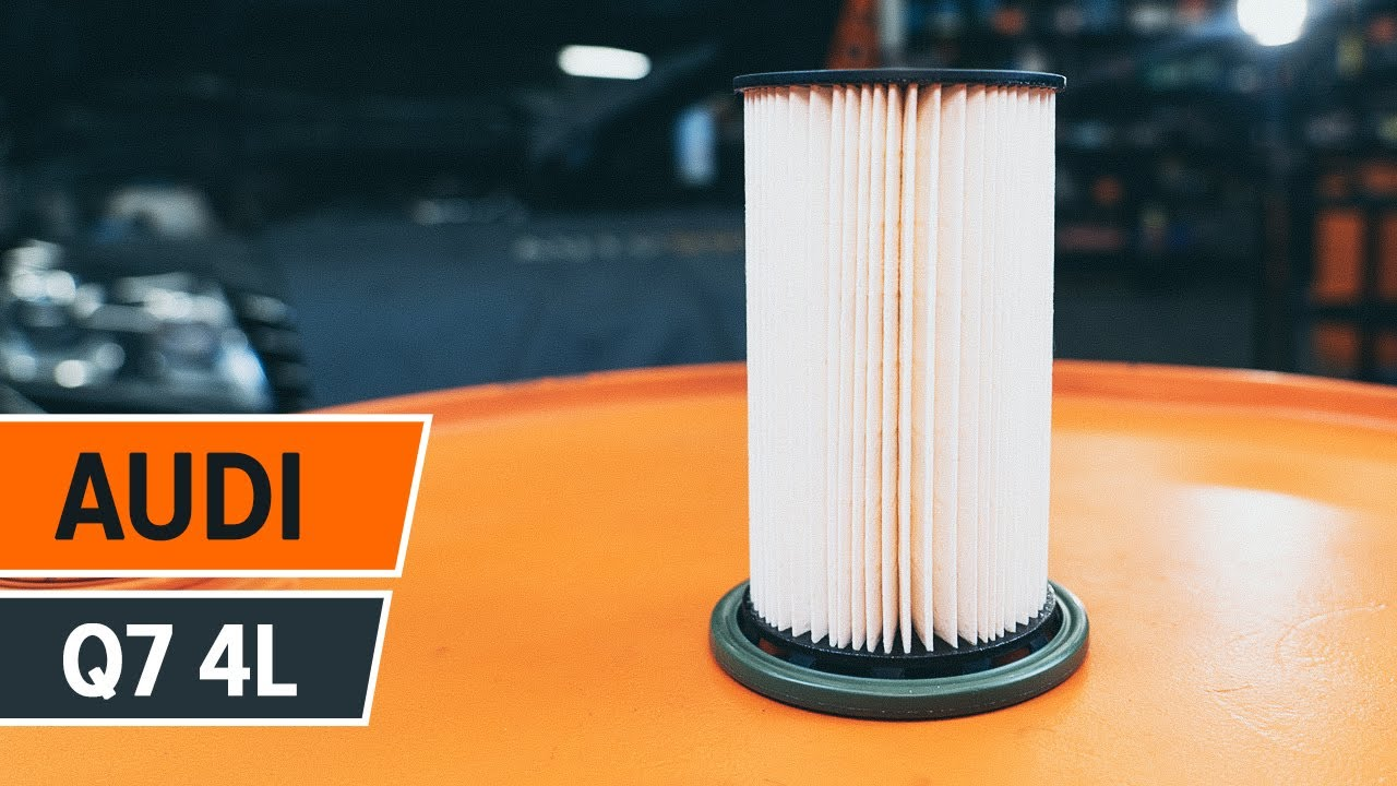 replace fuel filter  audi   tutorial