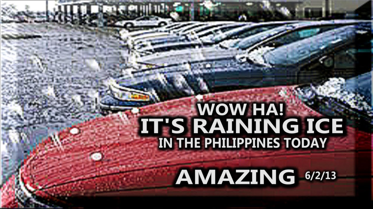 FIRST HAIL STORM EVER IN THE PHILIPPINES TODAY AMAZING ! - YouTube