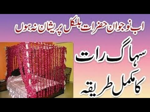 Suhagraat ka Tarika in Urdu/Hindi | Suhagraat Manany ka Mukamal tarika step by step
