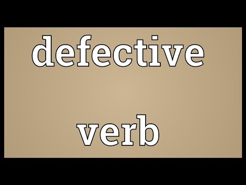 Image result for defective verbs