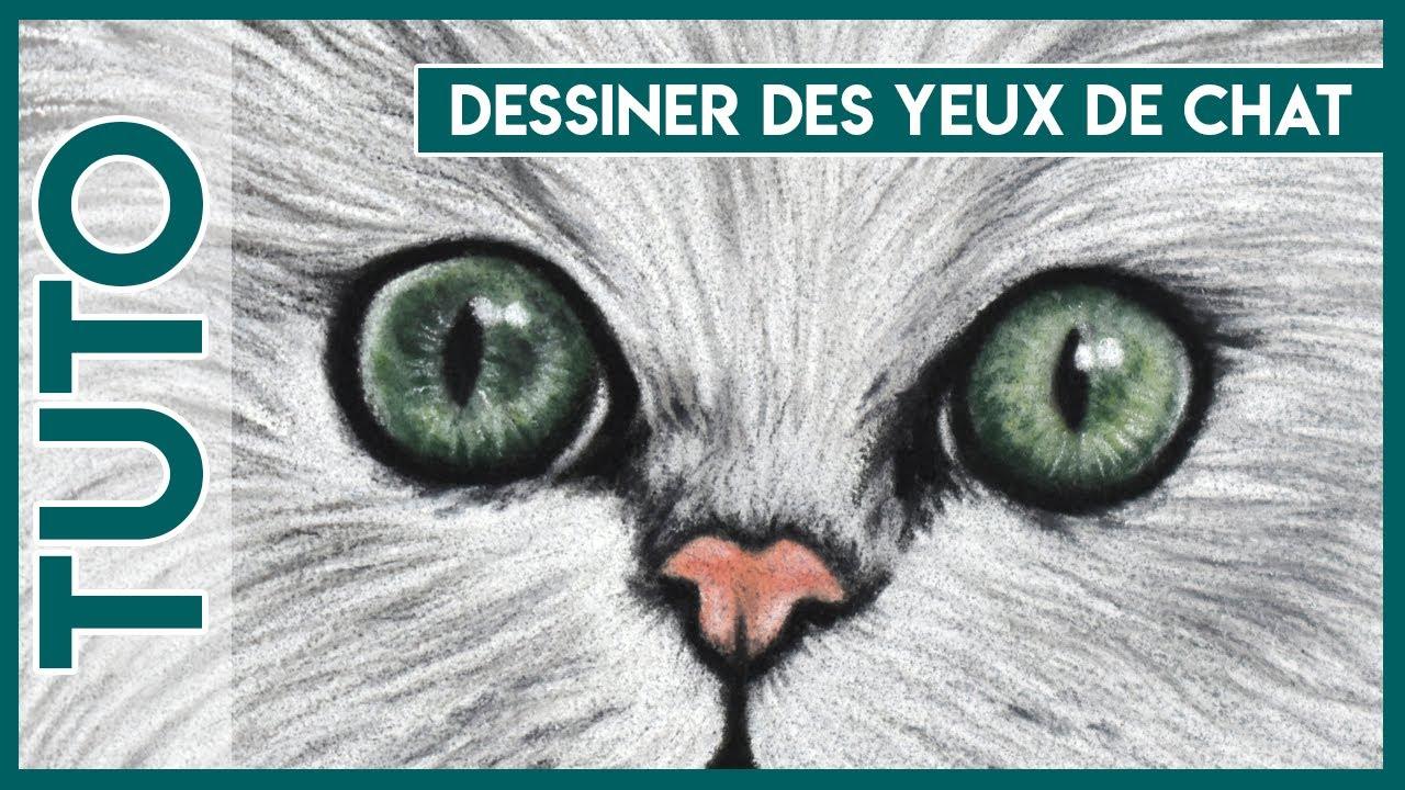 tuto n 15 yeux de chat au pastel sec close to art youtube. Black Bedroom Furniture Sets. Home Design Ideas