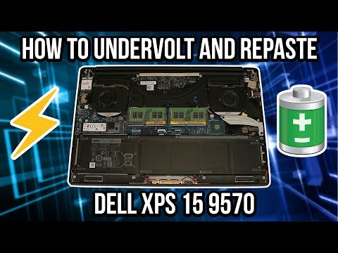 How to UNDERVOLT and REPASTE your Dell XPS 15 9570 to Increase Performance!  | TECH