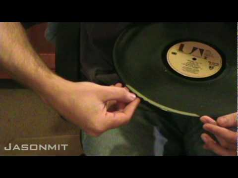 Cleaning Vinyl Records With Wood Glue
