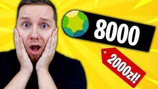 """KUPUJĘ """"8000 GEMÓW"""" ZA 2000zł w Brawl Stars! OGROMNY OPENING JUŻ DZIŚ!"""