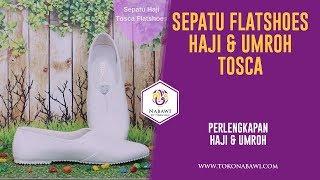Sepatu Haji Umroh Wanita Tosca Flatshoes Putih Polos Perlengkapan Haji dan Umroh