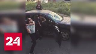 """Смотреть видео """"Где бабки?"""": в Магадане требующий денег кредитор разбил чужую машину - Россия 24 онлайн"""
