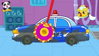 Police Car Puzzle Games For Kids | Baby Panda Fun Games For Toddlers | Baby Panda | BabyBus