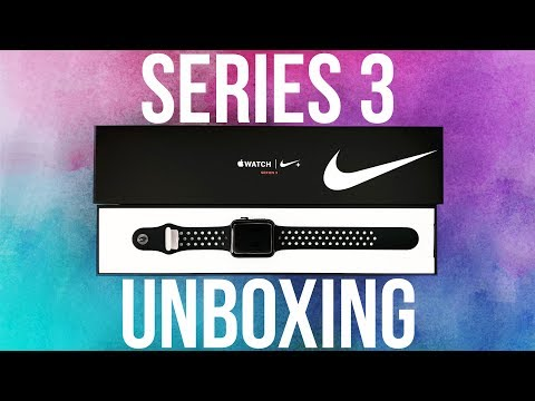 NIKE + Apple Watch⌚️Series 3 LTE Unboxing In 4K