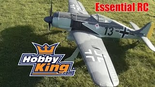 ESSENTIAL RC FLIGHT TEST: HobbyKing GIANT RC 1.6 ELECTRIC FW-190 WARBIRD (ESS-AIR Sound System)