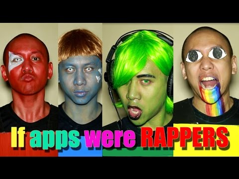 If Apps Were Rappers: Youtube vs Twitter vs Instagram vs Facebook vs more
