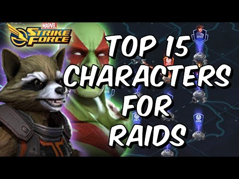 Top 15 Characters For Raids April 2018 - Marvel Strike Force