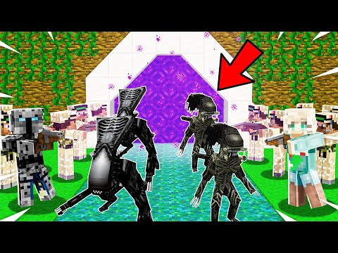 Minecraft: INSANE ALIEN DEFENSE! (ALIENS ARE INVADING!) Modded Mini-Game
