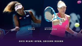 Naomi Osaka vs. Yanina Wickmayer | 2019 Miami Open Second Round | WTA Highlights