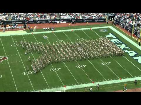Texas Aggie Band Halftime Drill Reliant Stadium Sept 2011