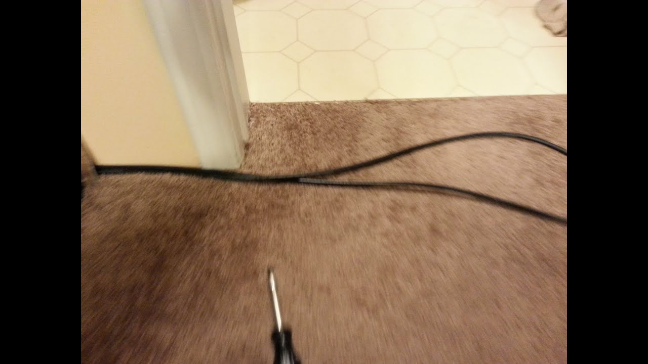how to hide wires under the carpet youtube rh youtube com under carpet wiring channel under carpet wiring raceway