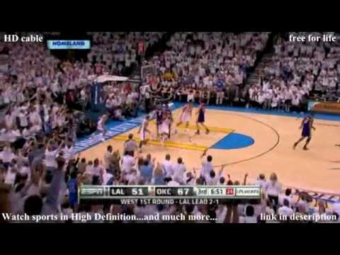 NBA Playoffs Lakers vs Thunder Game 4 Recap 04/24/2010