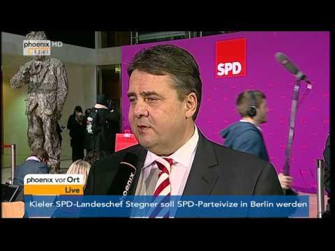 SPD-Minister - Interview mit Sigmar Gabriel am 15.12.2013