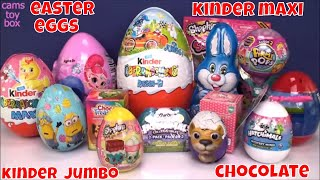 Cams toy Box is opening Easter Surprise Eggs , Kinder Chocolate Sur...