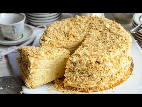 Торт НАПОЛЕОН: классический рецепт с Заварным Кремом🍴Простой рецепт - ИДЕАЛЬНО НЕЖНЫЙ торт!