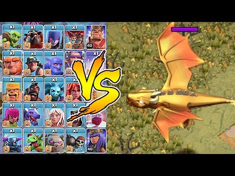 NEW BOSS DRAGON Vs. ALL TROOPS!!