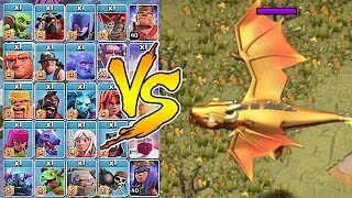 "NEW BOSS DRAGON Vs. ALL TROOPS!! ""Clash Of Clans"" New Update Halloween!"
