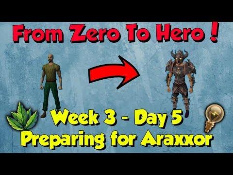 Zero To Hero - Getting Ready For Araxxor! [Runescape] Week 3, Day 5 (Ep 19)
