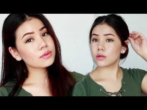 How to look beautiful with less makeup / everyday makeup /skincare routine / Hair