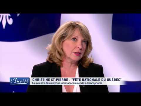 """Christine ST-PIERRE : """"Le Québec a des relations exceptionnelles avec la France"""""""