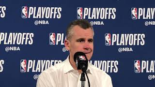 Thunder vs Blazers Game 3 - Billy Donovan