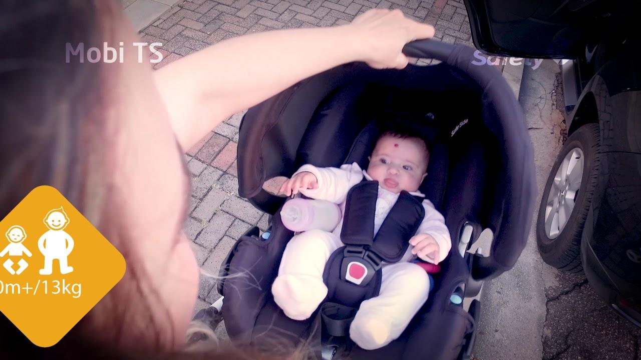 0106cc8dd03 Carrinho de passeio + Bebê Conforto com base Mobi Safety 1st - YouTube
