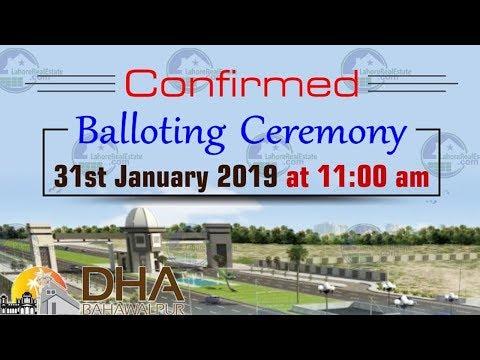 DHA Bahawalpur Ballot Updates by Lahore Real Estate January 2019