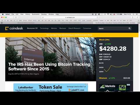 The IRS Tracking Bitcoin Transaction Since 2015. Why Tell Us Now?