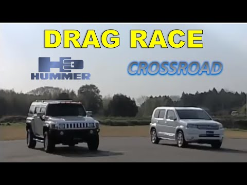 Drag Race #39   Hummer H3 vs Honda Crossroad