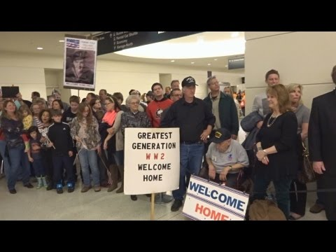 Honor Flight Chicago - April 8, 2015 - Midway Airport