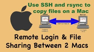 1 of 4: Remote Login between 2 Macs, Transfer Files between two Mac Computer on your local network