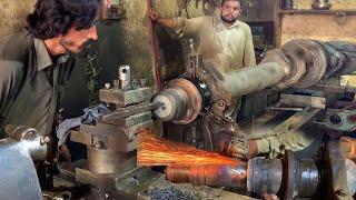 How to Rebuild Heąvy Duty Truck Broken Spindle From Axle    Repairing Truck Trailer Broken Axle