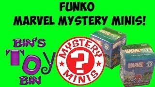 marvel funko mystery minis vinyl bobbleheads blind box opening by bin s toy bin