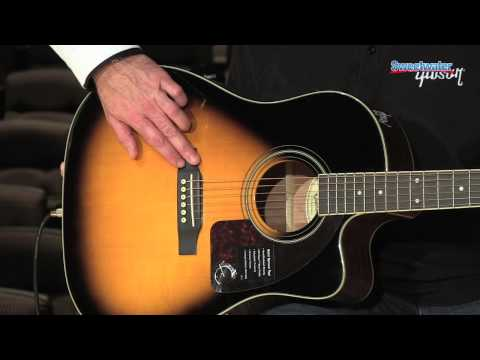 Epiphone AJ-220SCE Acoustic-electric Guitar Demo - Sweetwater Sound