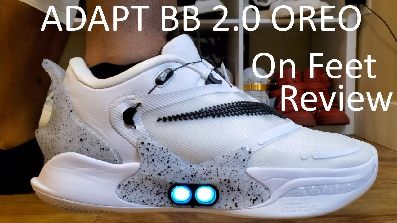 Nike Adapt Bb 2 0 Oreo Review And On Feet Aka White Cement In Hand Youtube