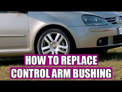 How to replace / remove control arm bushing VW Golf Mk5, Jetta in 8 steps (without hydraulic press)