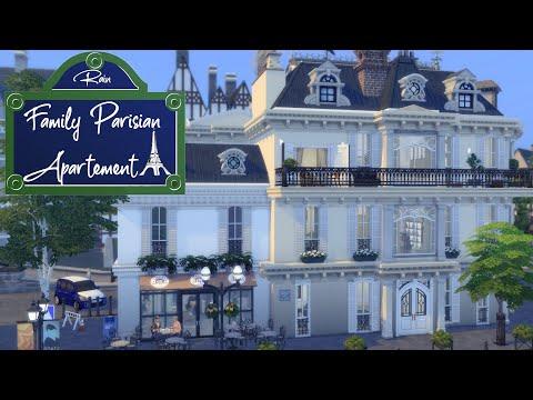 Family Parisian Apartment 🥐🌁 | Stop Motion Sims 4 | No CC