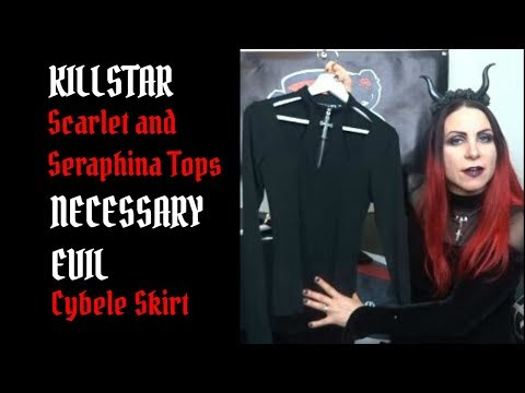 Killstar Scarlet And Seraphina Tops And Necessary Evil Cybele Skirt