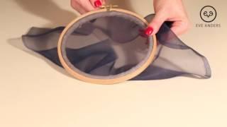 Люневильская вышивка - Урок 1: Запяливание шелковой органзы в круглые пяльцы